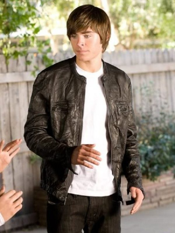 17 Again Mike Zac Efron Leather Jacket 3
