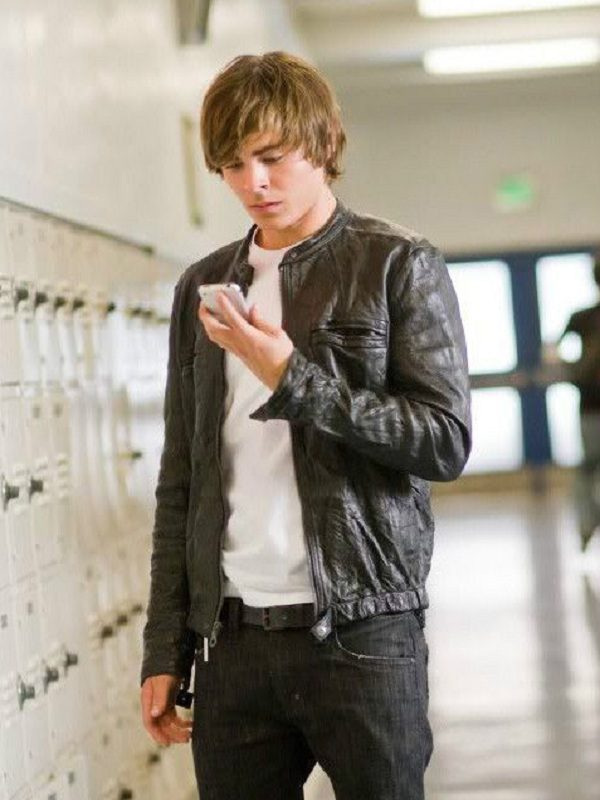 17 Again Mike Zac Efron Leather Jacket 1