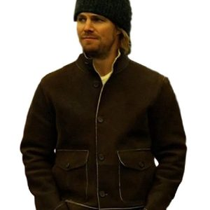 Arrow Stephen Amell Brown Jacket 9