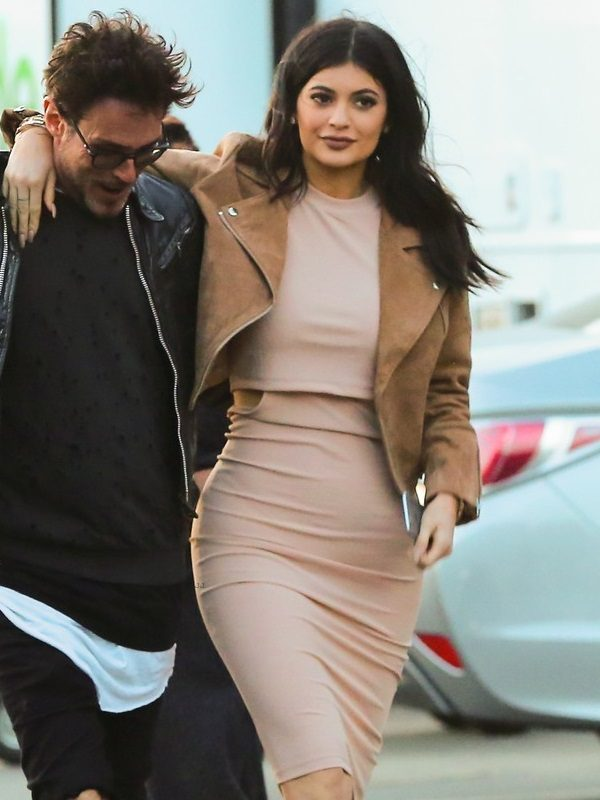 kylie jenner suede leather jacket