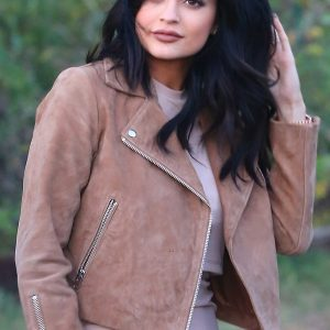 Kylie Jenner Suede Leather Jacket 42