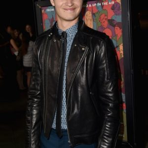 Ansel Elgort Leather Jacket 4
