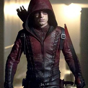 Arrow Arsenal Red Hooded Jacket 15