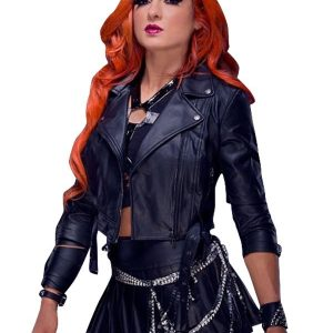 Becky Lynch leather Jacket 13