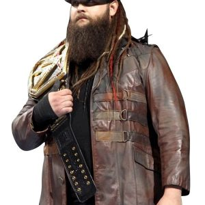 Wrestler Bray Wyatt Studded Leather Jacket 38