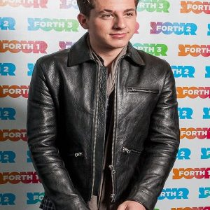 Singer Charlie Puth Leather Jacket 28