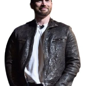 Chris Evans Captain America Leather Jacket 24