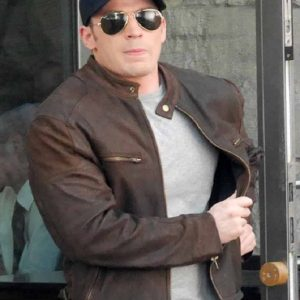 Captain America Civil War Chris Evans Leather Jacket 39