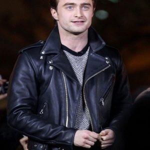 Daniel Radcliffe Biker Leather Jacket 21