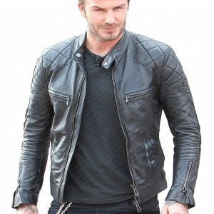 David Beckham Leather Jacket 27
