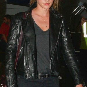 Emma Watson Brando Biker Leather Jacket 39