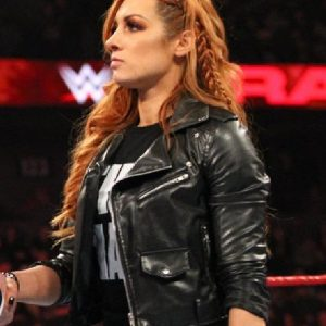 Irish Wrestler Becky Lynch Leather Jacket 34
