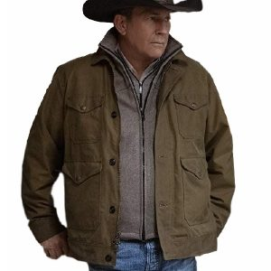 John Dutton Kevin Yellowstone Costner Cowboy Cotton Jacket 17