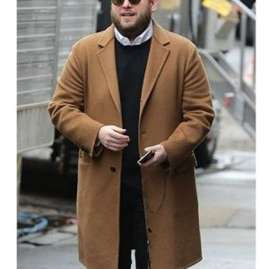 Jonah Hill Brown Trench Coat 10