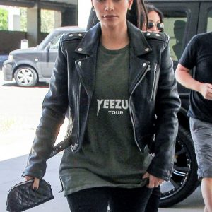Kim Kardashian Motorcycle Leather Jacket 40