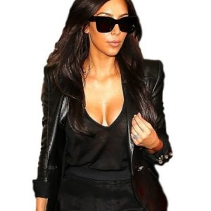 Kim Kardashian Leather Blazer 4