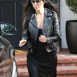 Kourtney Kardashian leather Jacket 24