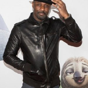 Idris Elba Zootopia London Premiere Leather Jacket 13