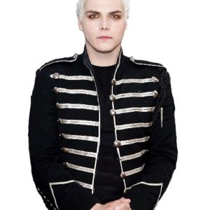 Men Steampunk MCR Military Parade Jacket 14