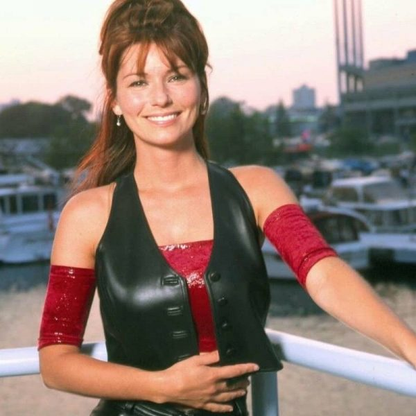 Singer Shania Twain Leather Vest 1