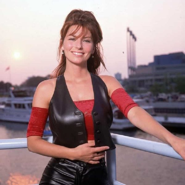 Singer Shania Twain Leather Vest 4