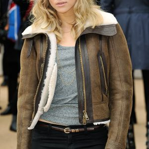 Suki Waterhouse B3 Sheepskin Shearling Jacket 3