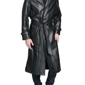 The Huntsman Trench Leather Coat 20