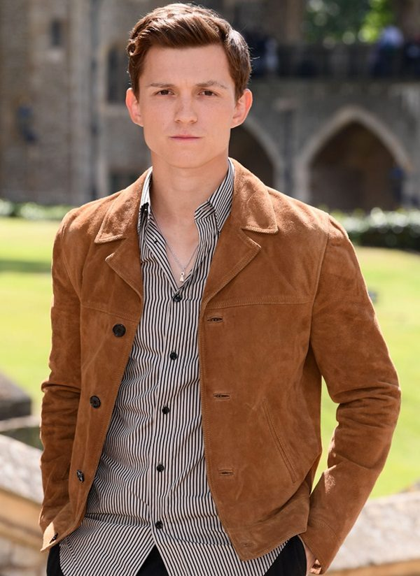 Tom Holland Brown Suede Leather Jacket 2