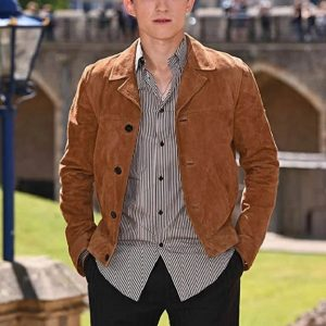 Tom Holland Brown Suede Leather Jacket 5
