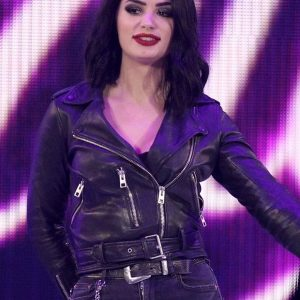 WWE SmackDown Paige Leather Jacket 45