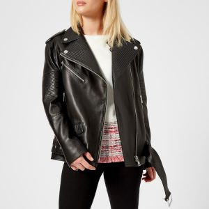 Women Oversized Biker Leather Jacket 28