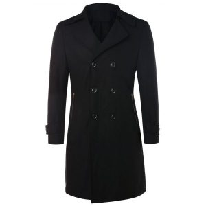 Unisex Wool Blend Trench Coat 28