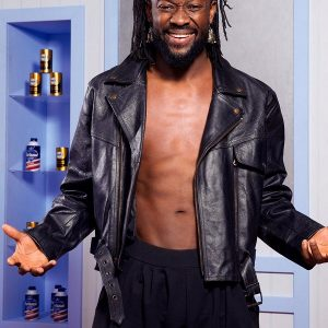 Wrestler Kofi Kingston Leather Jacket 33