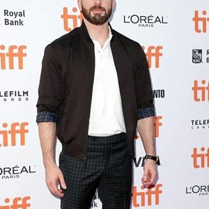 Chris Evans at an event for Knives Out 2019