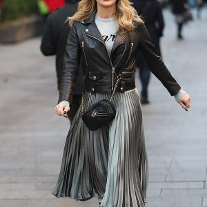Amanda Holden Leather Jacket
