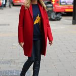 Amanda Holden in a Red Coat