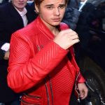 Justin-Bieber-Red-Quilted-Design-Leather-Jacket