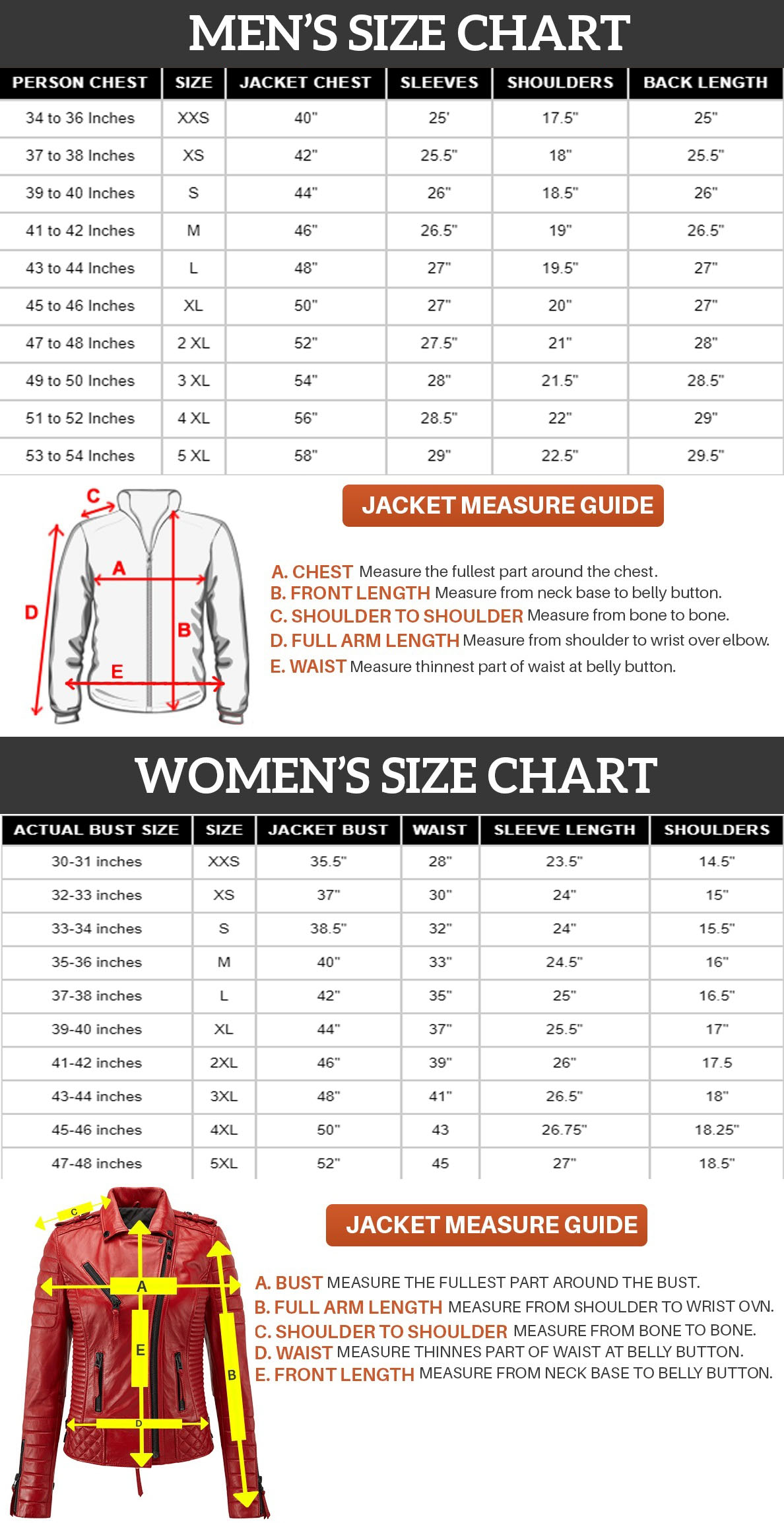 Size-chart-for-man-and-women-celebjacket