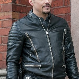 Nick Wechsler in Chicago P.D .Leather Jacket