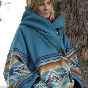 Yellowstone Beth Dutton Blue Hooded Jacket