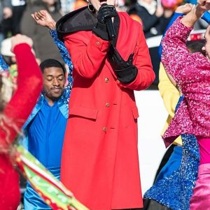 100th Thanksgiving Day Meg Donnelly Red Wool Coat