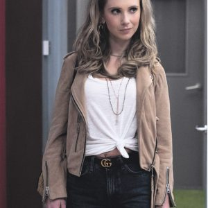 TV Series Ted Lasso Juno Temple Suede Leather Jacket
